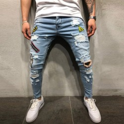 Men's Pants New Style Various Patterns Torn Swag