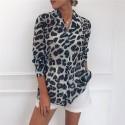 Blusa Feminina Manga Longa Estampada Leopardo Onça Pintada
