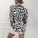 Women's Blouse Long Sleeve Printed Leopard Ounce Painted