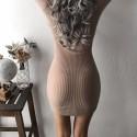 Vestido Feminino Curto Manga Longa Decote V Sexy