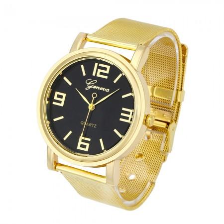 Relógio Casual Elegante Unisex para Presente Dourado e Prata
