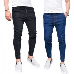 Calça Masculina Jeans Estilo Casual Moderna Skinny
