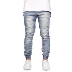 Mens Elastic Jeans Elastic New Style Casual Elastic Legs