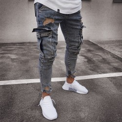 SWAG Men's Pants Very Skinny Stylish Laterial Pockets