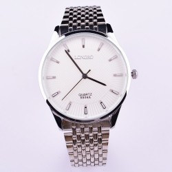 Watch Classic Men Luxury White Large Analog Sophisticated