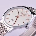 Relógio Clássico Masculino Luxo Branco Grande Analógico Sofisticado