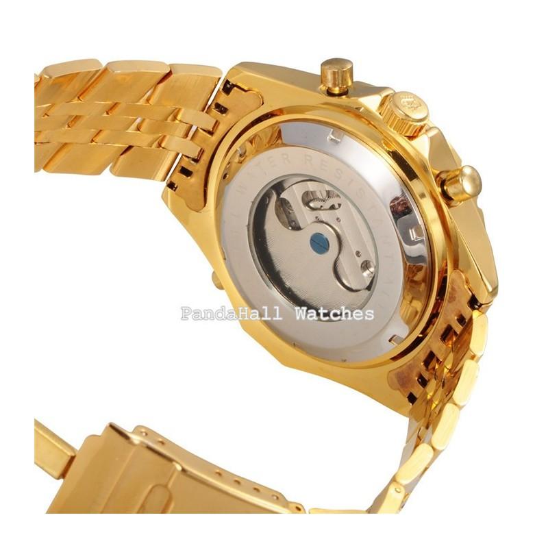613c735a915 Relógio Orkina Masculino Ouro Dourado e Prata Elegante Automático