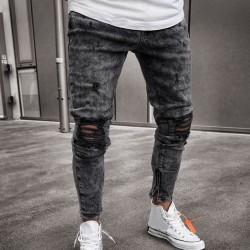 Calça Masculina Novo Modelo Rasgada Estilo Jovens Swag