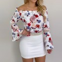 Women's blouse Florida scoop neck long sleeve drofted spring summer