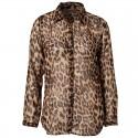 Women's leopard print long sleeve men's Casual shirt