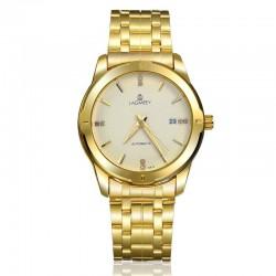 Relógio Clássico Masculino Cor Ouro Dourado Elegante Formal Automático