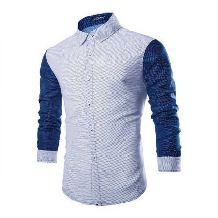 Shirt Slim Fit Casual Male Balls Minimalists