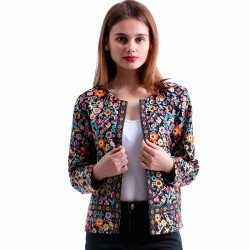 Women's fashion Floral black mesh thick stylish Casual Blazer