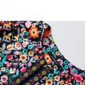 Blazer Social Floral Preto Malha Grossa Elegante Casual Moda Feminina