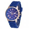 Relógio Feminino Casual Colorido Fashion Barato de Borracha