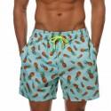 Bermuda Casual com Desenhos de Frutas Masculino Moda Verão