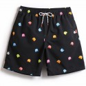 Men's Black Bath Short Geek Pac-Man Surf Tumblr young Fashion