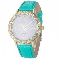 Relógio Casual Feminino Colorido com Cristais Fashion Look Barato