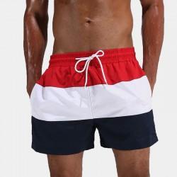 Men's Casual Calitta red striped Bermuda Shorts