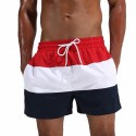 Men's Casual Short Fit striped Polyester Workout