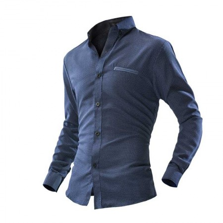 Casual Shirt Men's Fashion Slim Fit Stylish Formal Style