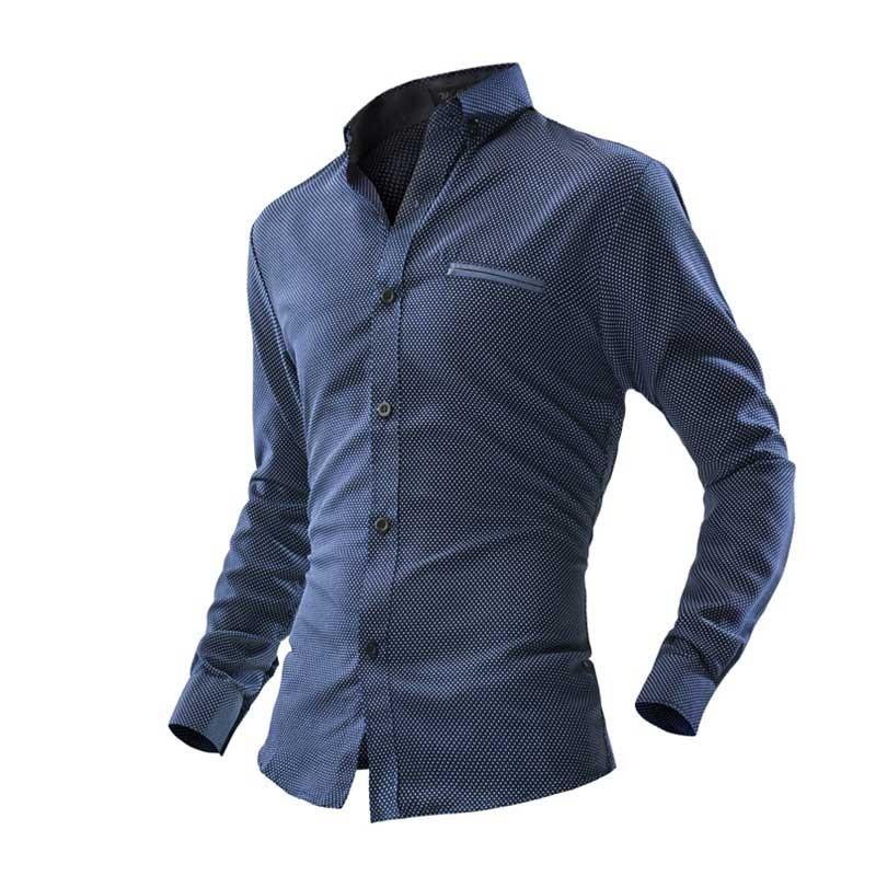 065937422c Camisa Casual Moda Masculina Slim Fit Estilo Elegante Formal