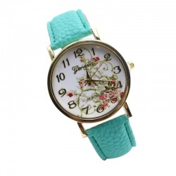 Floral Clock Female Colored Fashion Casual Geneva Delicado Beautiful