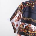 Summer Floral striped short sleeve fashion beach shirt