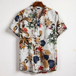 Tropical Floral button short sleeve shirt Casual summer holiday