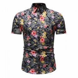 Camisa Masculina Novo Estilo Florida Verão Moda Praia