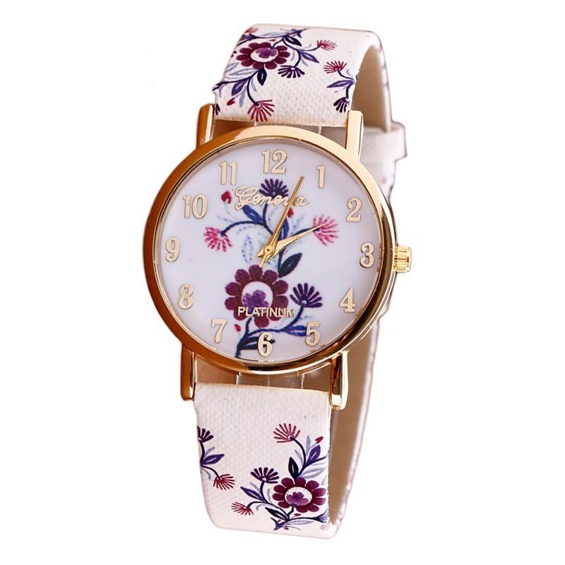 3a497943f9494 Relógio Feminino Floral Delicado Fashion Barato Sifisticado Garota. Loading  zoom