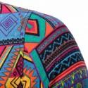 Camisa Afro Masculina Manga Curta de Botão