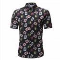 Camisa Masculina Novo Modelo Estampa Floral Praia