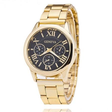 5db6bffad2a Relógio Geneva Feminino Formal Dourado Romanos Executivo Luxo