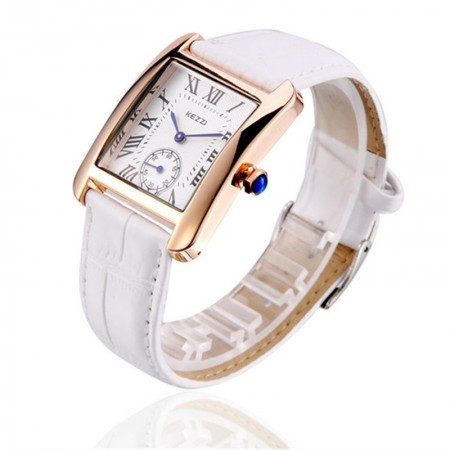 Clock Female Kezzi Medical Casual Elegant Golden Rectangle