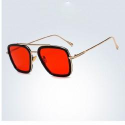 Óculos Masculino Quadrado Tony Stark Homem de Ferro Amarelo armação