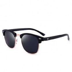 Óculos de Sol Lente Espelhada Azul Proteção UV Armaçaõ Superior