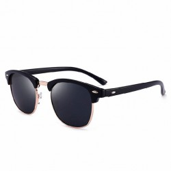 Sunglasses Mirrored Lens Blue UV Protection Upper Frame