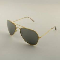 Óculos Escuro Grande Aviador Armação Fina Dourado