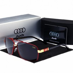Audi Men's Sport Sunglasses Gold Detail UV Protection