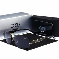Óculos de Sol Esporte Masculino Audi Detalhes em Ouro Proteção UV