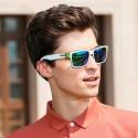 Óculos Masculino Branco moda Funk Armação Grossa com Proteção UV