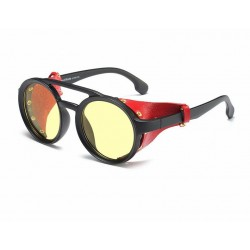 Óculos Escuro Feminino Lady Gaga Lente Uv400 Armação Redonda Itália