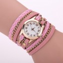 Watch Leather Strap Female Multicolor with Chain Fashion