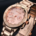 Luxury Watch Female Geneva Gold color with crystals on Quartz