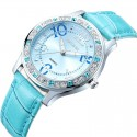 Clock Female Casual with Silver Crystal Quartz Luxury Fashion