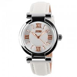 Relógio Casual Moderno Feminino Elegante Analógico em Couro
