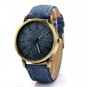 Relógio Jeans Feminino Vintage Casual Fashion em Quartzo Colorido