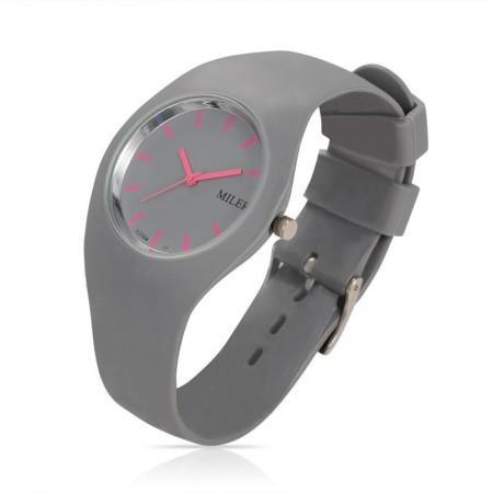 9b53cf7027f Relógio Esportivo Miler Feminino de Borracha em Quartzo Resistente