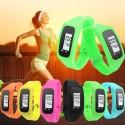 Relógio Conta Passos Corrida Treino Esportivo Feminino LCD